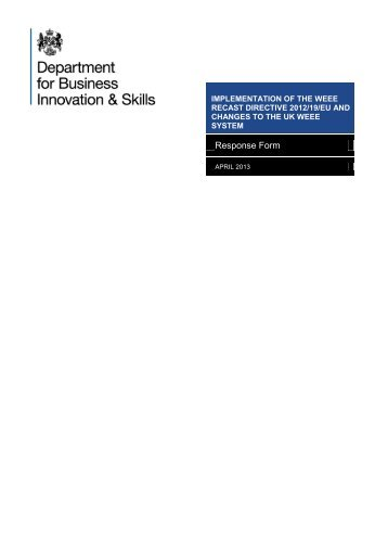 implementation of the weee recast directive 2012/19/eu and ... - larac