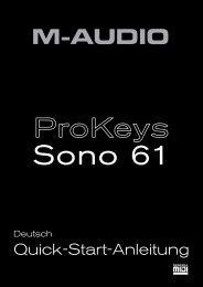 Prokeys Sono 61 | Quick-Start-Anleitung - M-Audio