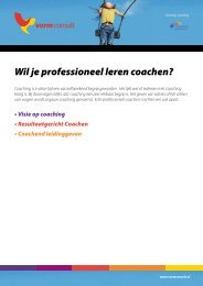 Wil je professioneel leren coachen? - VORMCONSULT