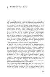 5 Die Börse ist kein Kasino - Frankfurter Allgemeine Buch