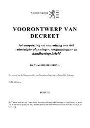 VOORONTWERP VAN DECREET - Dirk Van Mechelen