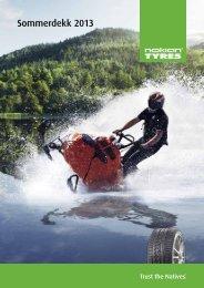 Brosjyre: Sommerdekk 2013 - Nokian Tyres