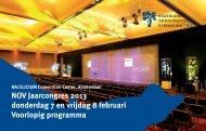 NOV Jaarcongres 2013 donderdag 7 en vrijdag 8 februari Voorlopig ...