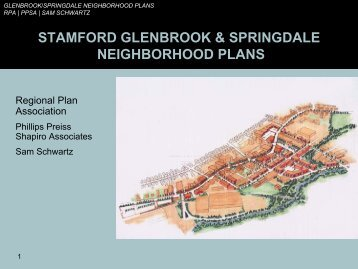 stamford glenbrook & springdale neighborhood plans