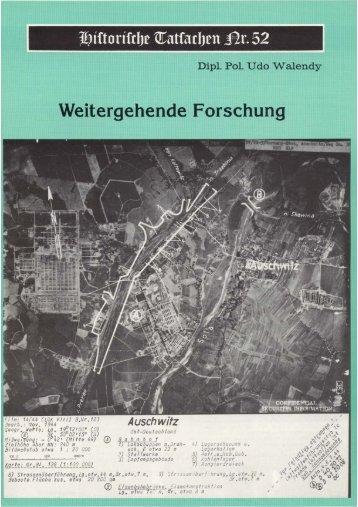 Historische Tatsachen - Nr. 52 - Udo Walendy - Weitergehende ...
