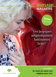 WHIPLASH MAGAZINE - Whiplash Stichting Nederland