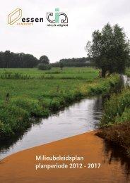 Milieubeleidsplan 2012 - Gemeente Essen