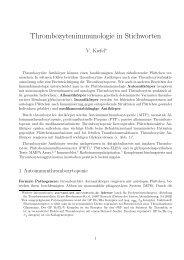 Thrombozytenimmunologie in Stichworten - Transfusionsmedizin ...