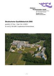 Qualitätsbericht 2005 - Klinikum Friedrichshafen GmbH