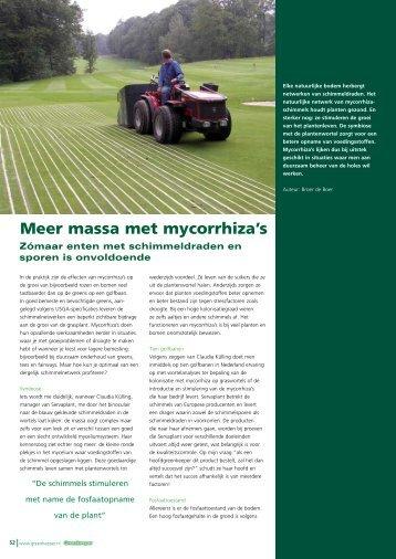 Meer massa met mycorrhiza's - Servaplant