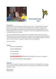 Nieuwsbrief lente 2013 - Kinderopvang De Poppenkast