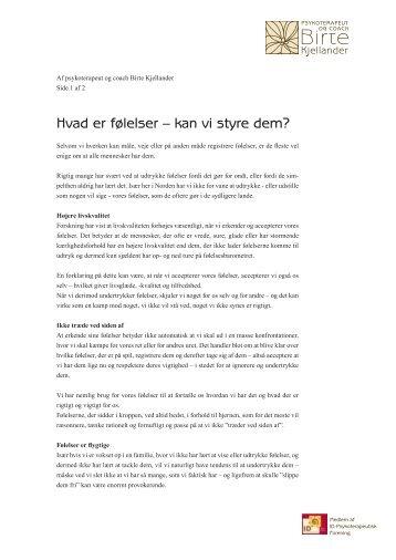 Hvad er følelser – kan vi styre dem? - psyk-naestved.dk