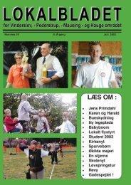 juli 2003 - Lokalbladet - For Vinderslev-, Pederstrup-, Mausing