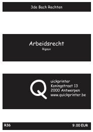 R36 Arbeidsrecht : Rigaux - Quickprinter