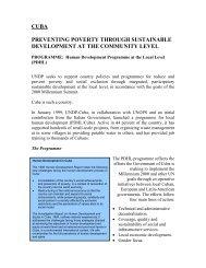 cuba preventing poverty through sustainable development