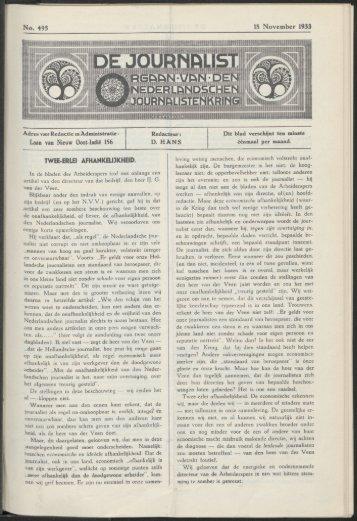 No» 495 18 November 1933 Laan van Nieuw Oost-Indië 156 TWEE ...