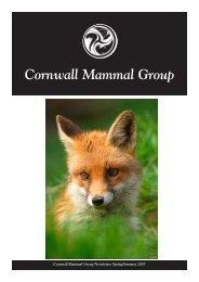 CMG Spring 2007 - Cornwall Mammal Group