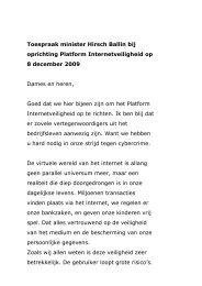 Toespraak minister Hirsch Ballin bij oprichting Platform ... - ECP