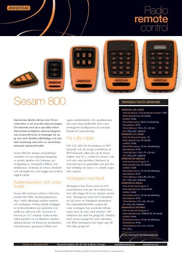 Sesam 800 - Wisac AS