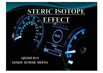 Kinetic isotope effect