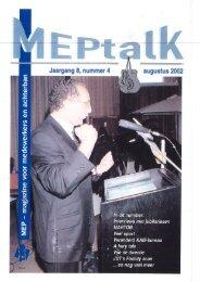MEPtalk 2002-4 - eTNOs