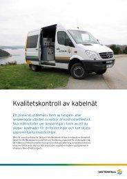 Kvalitetskontroll av kabelnät - Vattenfall