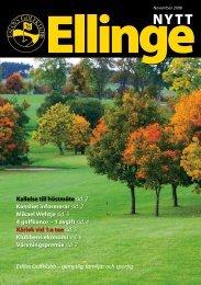 Elinge Nytt November 2008 - Eslövs Golfklubb