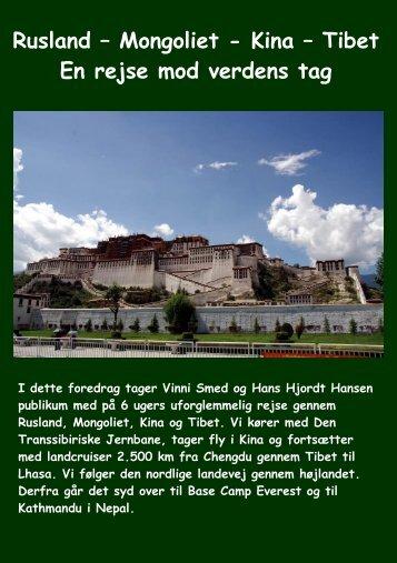 Rusland – Mongoliet - Kina - Himmelske Foredrag | Forside