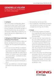 Download Generelle vilkår for etablering og omlægning af ...