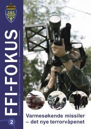 Nr. 2: Varmesøkende missiler - det nye terrorvåpenet - Forsvarets ...