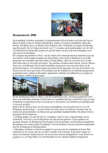 Reisverslag (klik hier) - Werkgroep Oost Europa