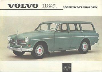Volvo 121 Estate Mini Brochure 1962 - Dutch - Volvo Amazon ...