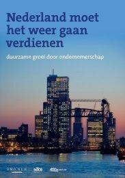 Brochure 'Nederland moet het weer gaan verdienen' - VNO-NCW
