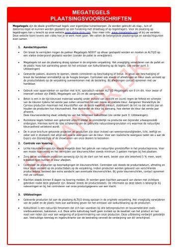 Plaatsingsvoorschriften Megategels 2013.pdf - Stone & Style