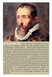 la vie de juste lipse - Koninklijke Bibliotheek van België