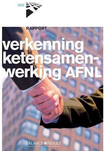 Verkenning ketensamenwerking AFNL - Aannemersfederatie ...