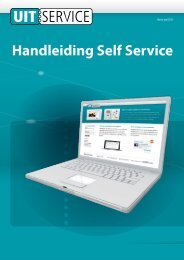 Handleiding Self Service - Uitservice