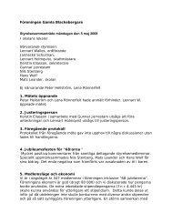 5 maj - Föreningen Gamla Blackebergare