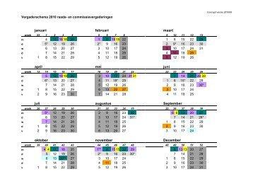 concept vergaderschema 2010.pdf - Gemeenteraad