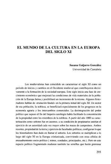 EL MUNDO DE LA CULTURA EN LA EUROPA DEL SIGLO ... - Dialnet