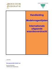Modelvragenlijsten Internationale Waardeoverdracht