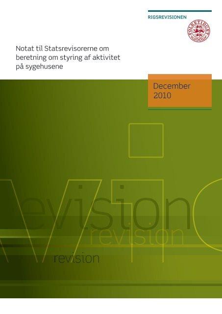 Hent notatet her (pdf) - Rigsrevisionen