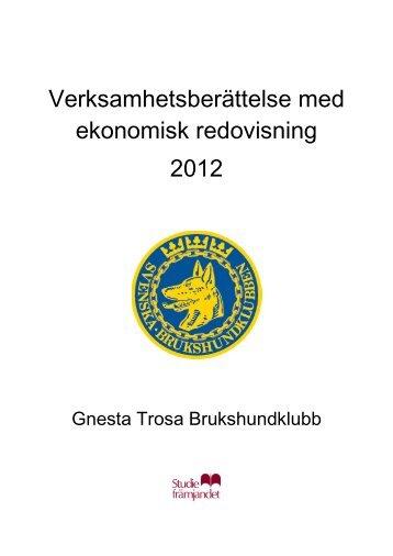 Verksamhetsberättelse - Gnesta - Trosa Brukshundklubb