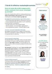 7 Skridt til effektive medarbejdersamtaler - Inspiration2grow