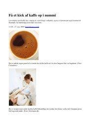 Få et kick af kaffe op i nummi - Colonic