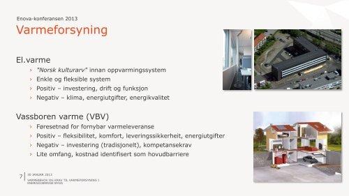 Varmebehov og krav til energiforsyning i energigjerrige bygg.
