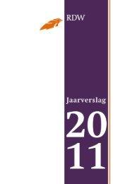 Wettelijk jaarverslag 2011 - Jaarverslagen - Rdw