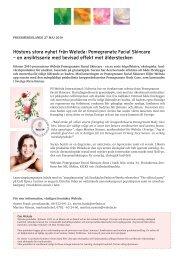 Höstens stora nyhet från Weleda: Pomegranate Facial Skincare – en ...