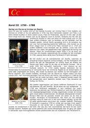 Karel III 1759 - 1788 - Casa Cultural