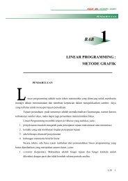 LINEAR PROGRAMMING : METODE GRAFIK - Directory UMM